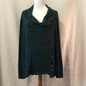 Maurices Plus Size 3X Blouse Green Side Zipper